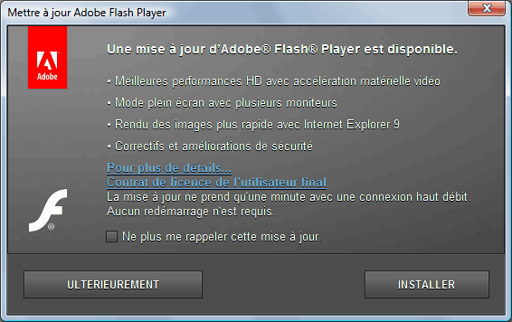 Flash Player - mise à jour