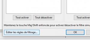 editer filtrage
