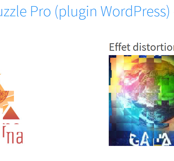 Image Puzzle Pro - plugin Wordpress (puzzle et distortion)